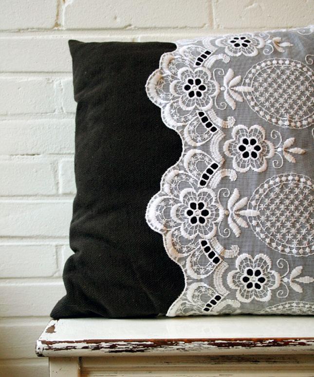Lace pillow case
