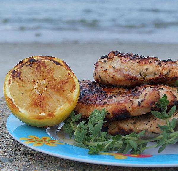 Lemon oregano grilled chicken