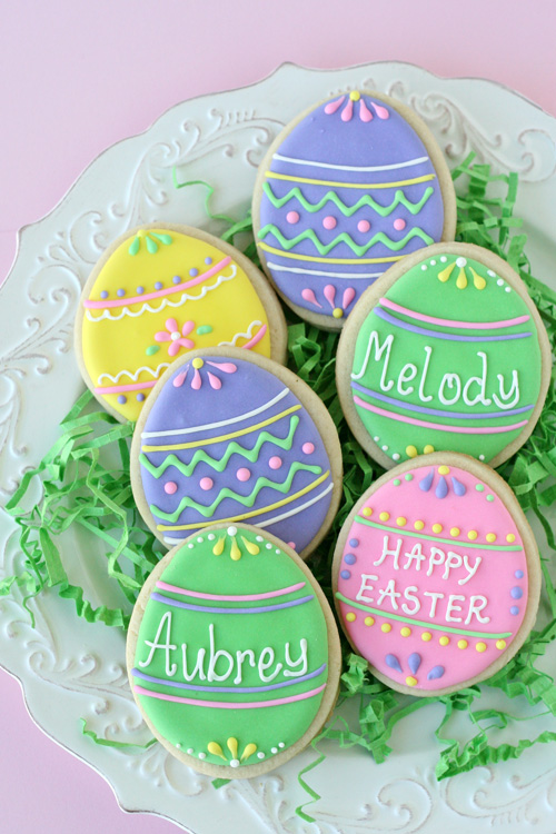 Message Easter egg cookies
