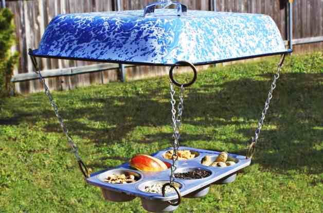 Muffin Tin DIY Bird Feeder