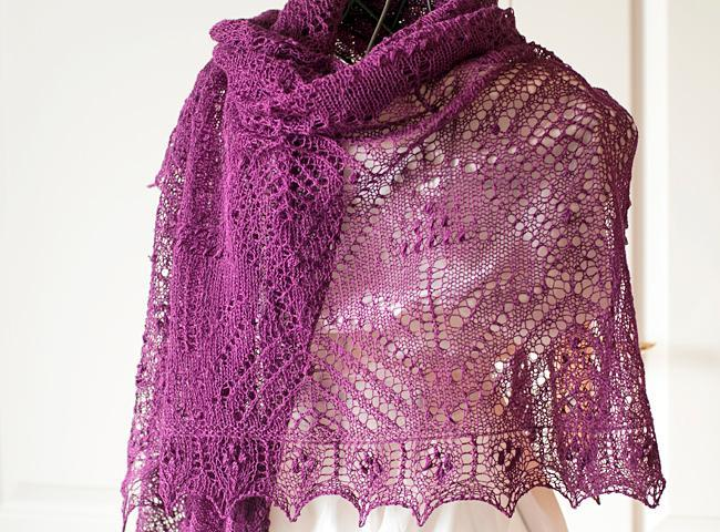 Muscari rectanlge lace shawl
