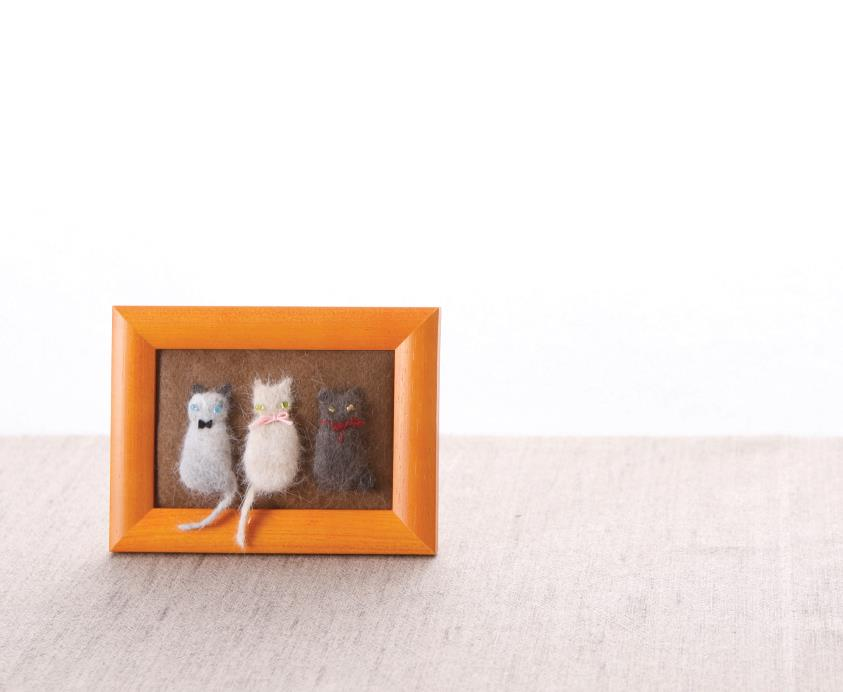 Needle felted 3D pictures
