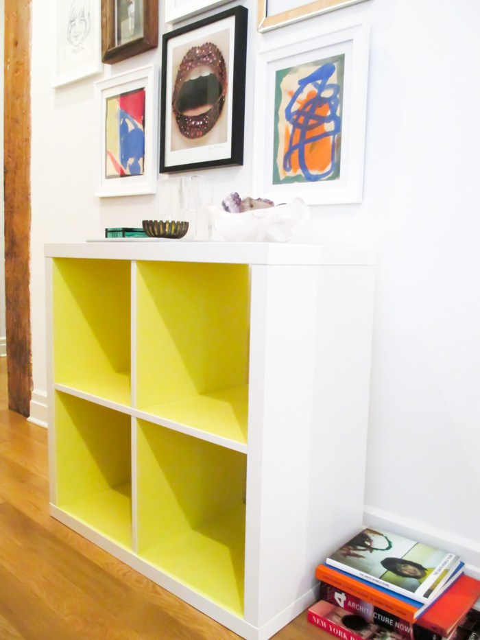 Neon Yellow Bookcase