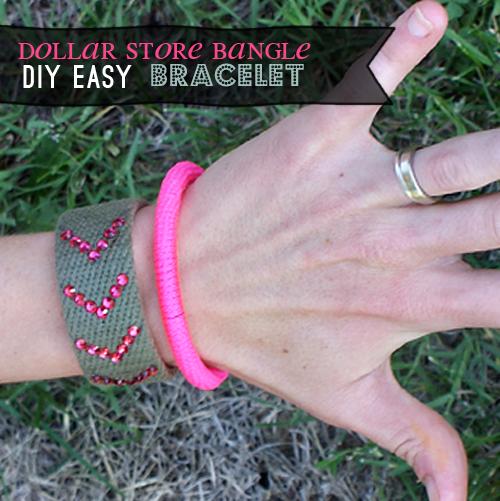 Neon bangle bracelet