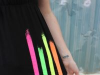 Neon stripe tank top 200x150 Bright and Bold: DIY Projects for Neon Maniacs