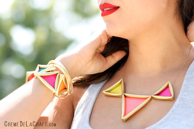 Neon triangle jewelry