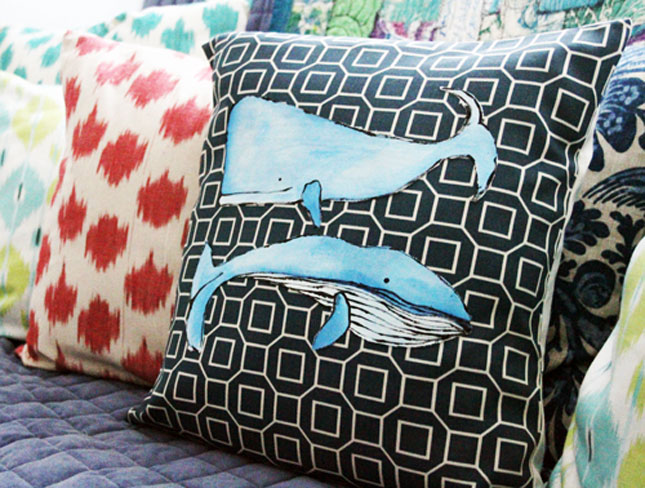 No-sew whale pilow case