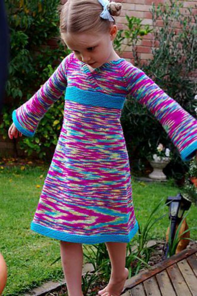 Oriental Lily Knit Dress