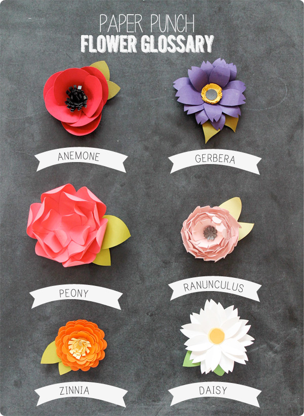 How to make paper flowers in 10 different ways view in gallery paper punch flowers mightylinksfo Choice Image