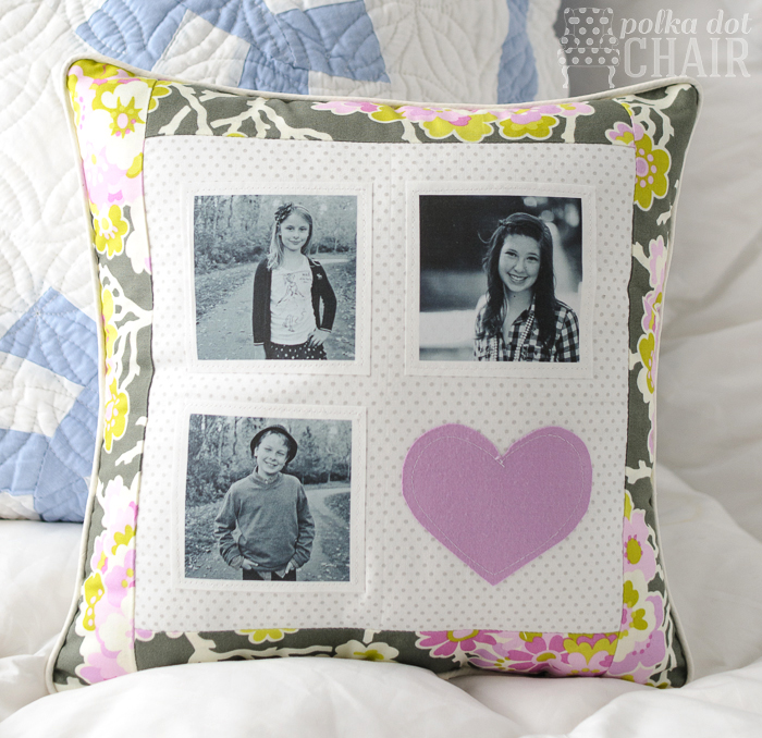 Patchwork Photo Pillow