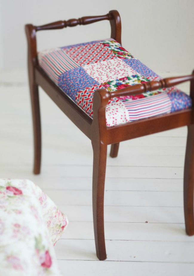VIEW IN GALLERY Patchwork Stool