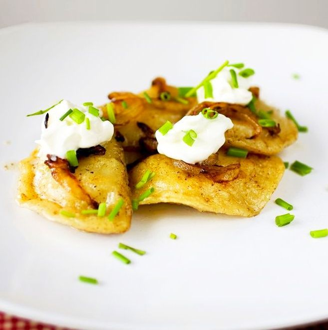 Perogies with crsipy fried onions
