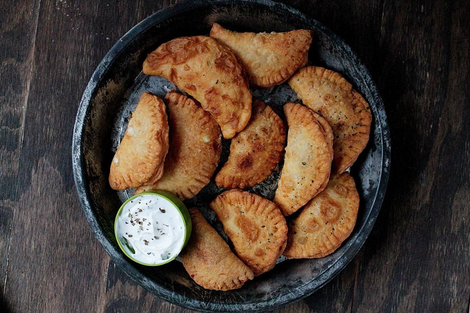 Perogies with spicy feta filling