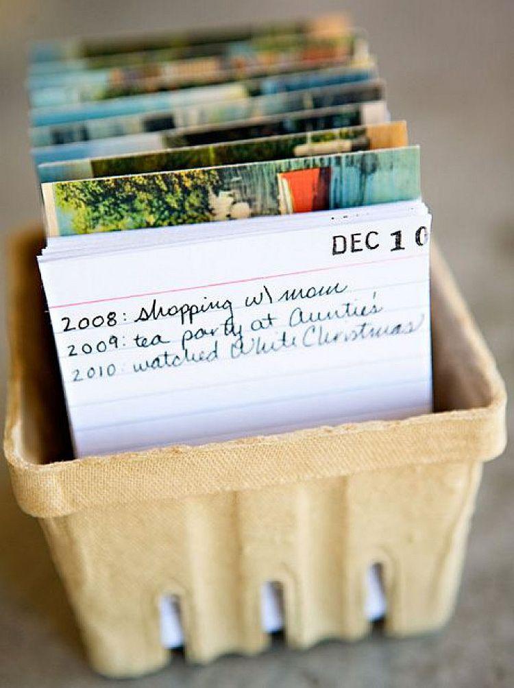 Postcard Calendar Journal