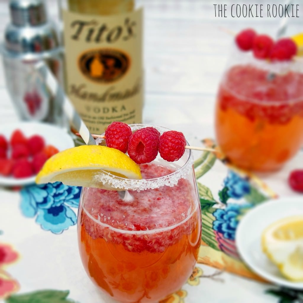 Raspberry ginger crush cocktail
