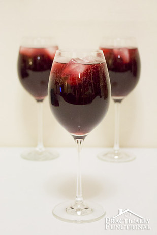 Red wine and Sunkist %22sangria%22