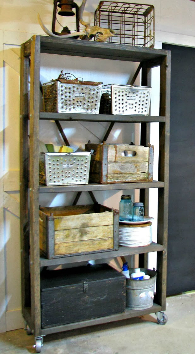VIEW IN GALLERY Rolling Industrial Shelving