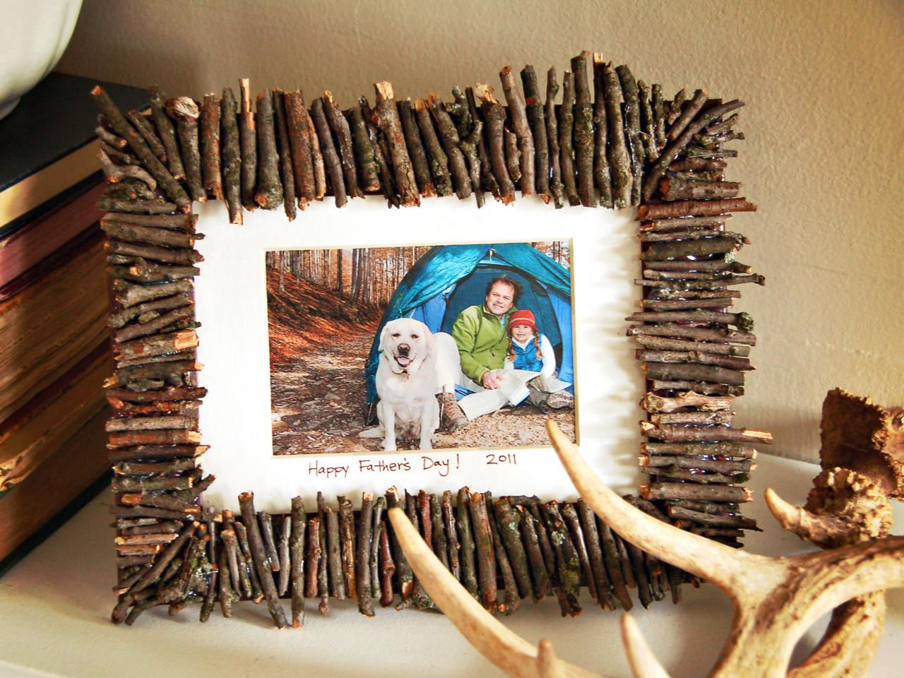 Rustic Frame with Twigs