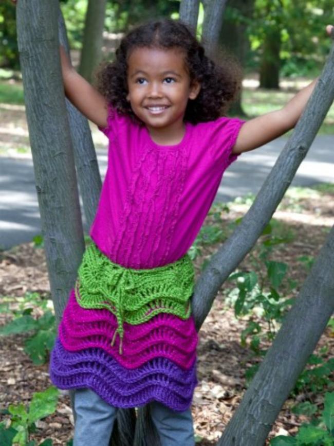 Salsa Party Crochet Skirt