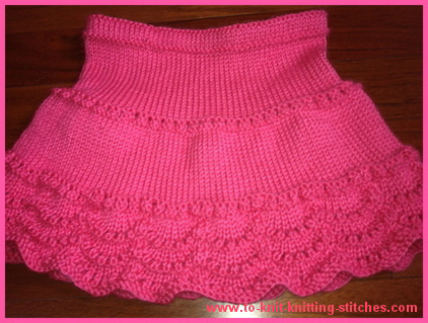 Scallop Knit Skirt