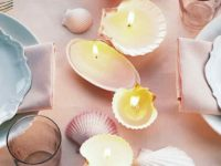 Seashell Candles 200x150 11 Cool Candle Making Projects for Beginners