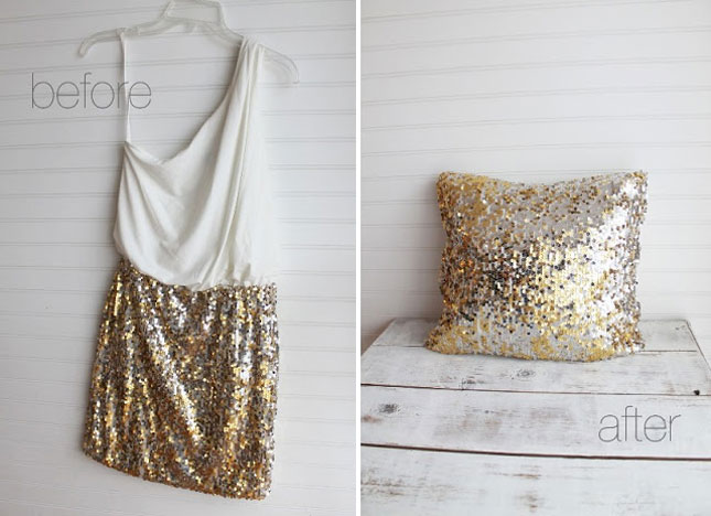 Sequin skirt pillow case