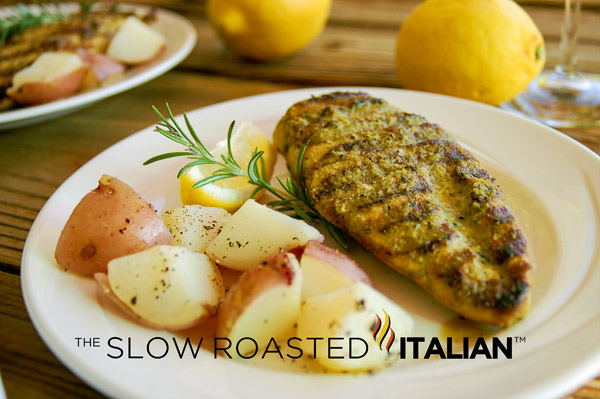 Simple rosemary lemon chicken