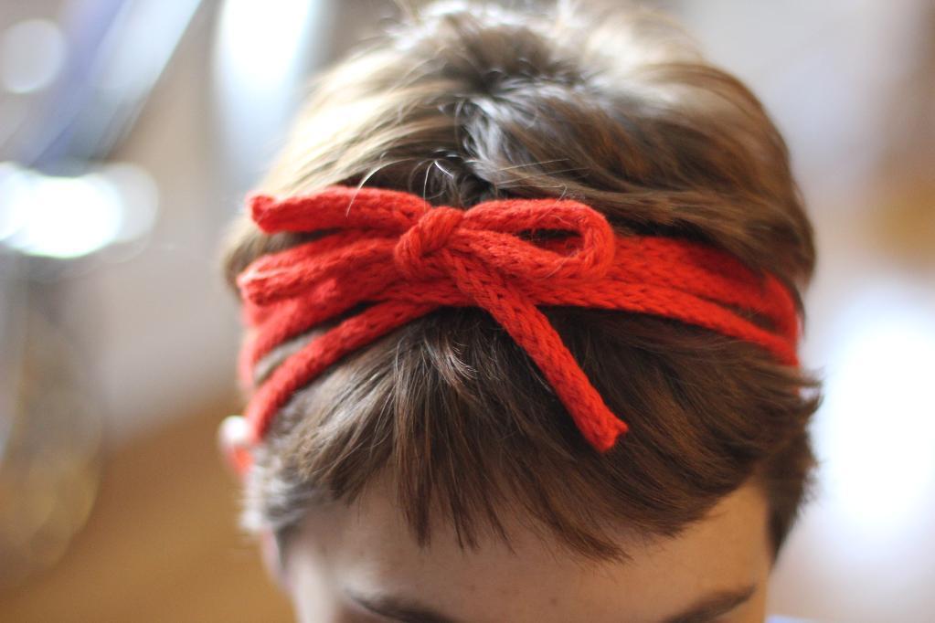 String tie headband