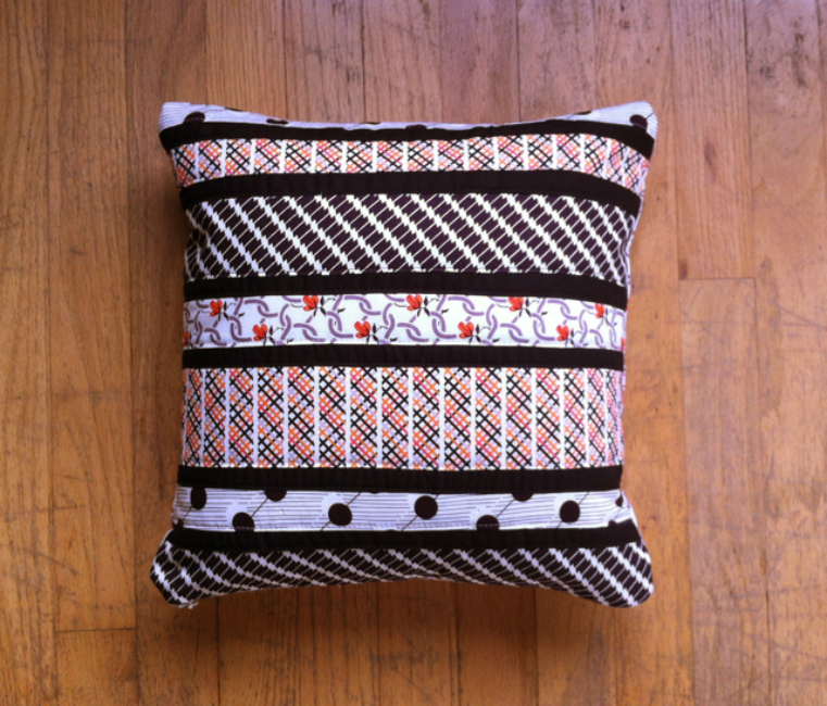 Striped Patchwork Pillow
