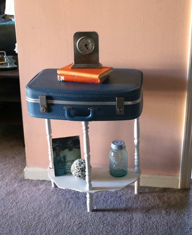 Suitcase to Hallway Table