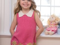 Sweet Argyle Knit Dress in pink 200x150 Beautiful Dresses to Make for Your Daughter