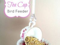 Tea Cup Bird Feeder 200x150 These Upcycled DIY Bird Feeders Are the Perfect Addition to Your Backyard