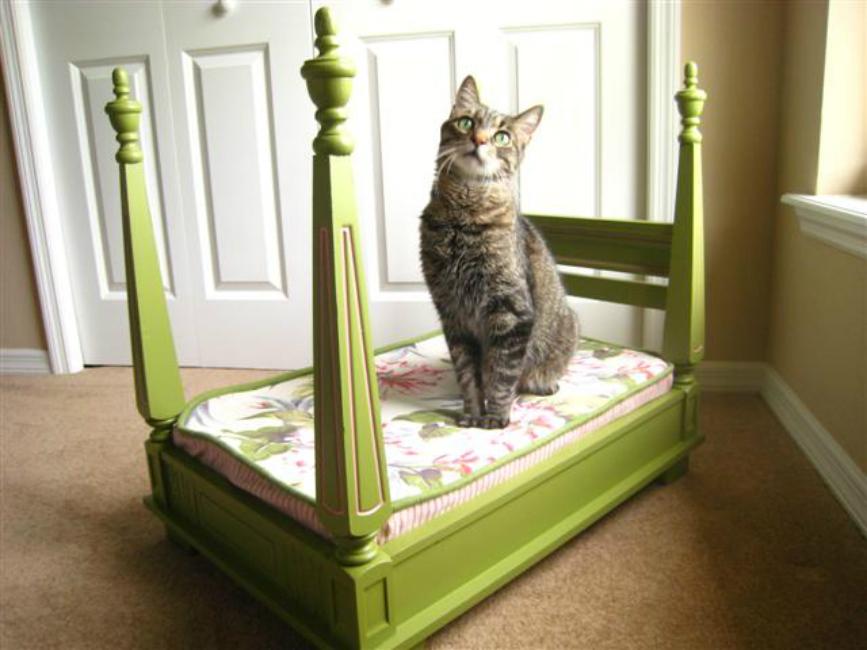 Upside Down Stool Pet Bed