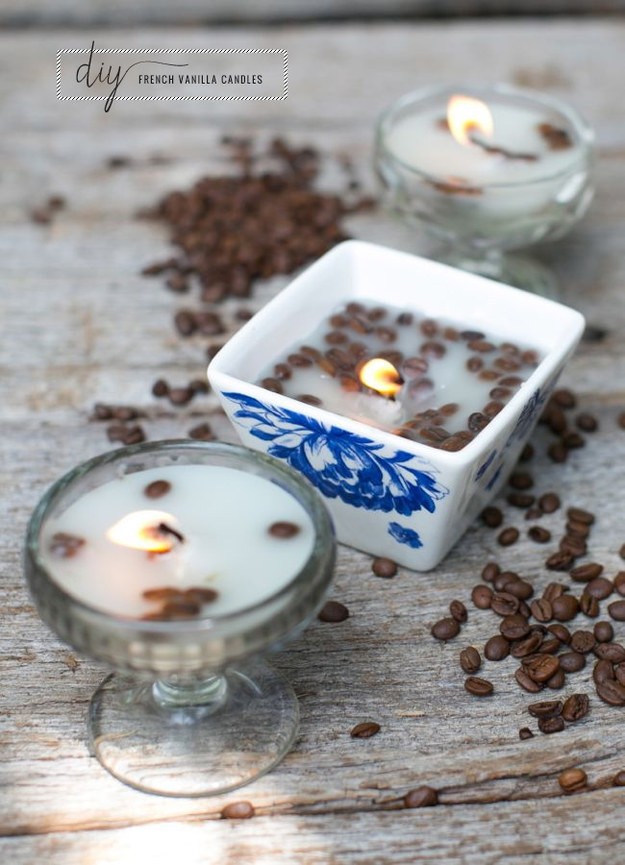 Vanilla coffee bean candles