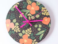 Wallpaper Clock 200x150 How to Make a Clock Covered with Wrapping Paper