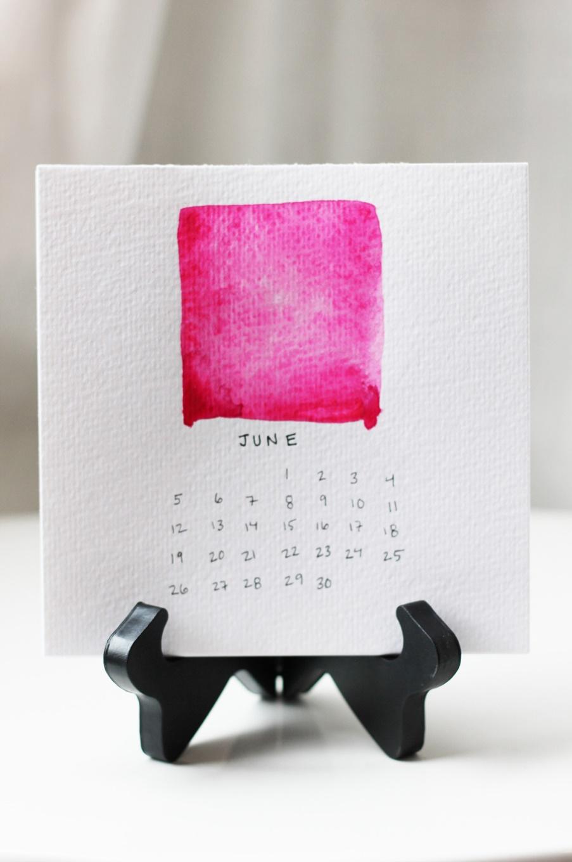 Watercolors Desktop Calendar