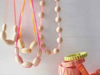 Wood and neon necklaces 200x150 Bright and Bold: DIY Projects for Neon Maniacs