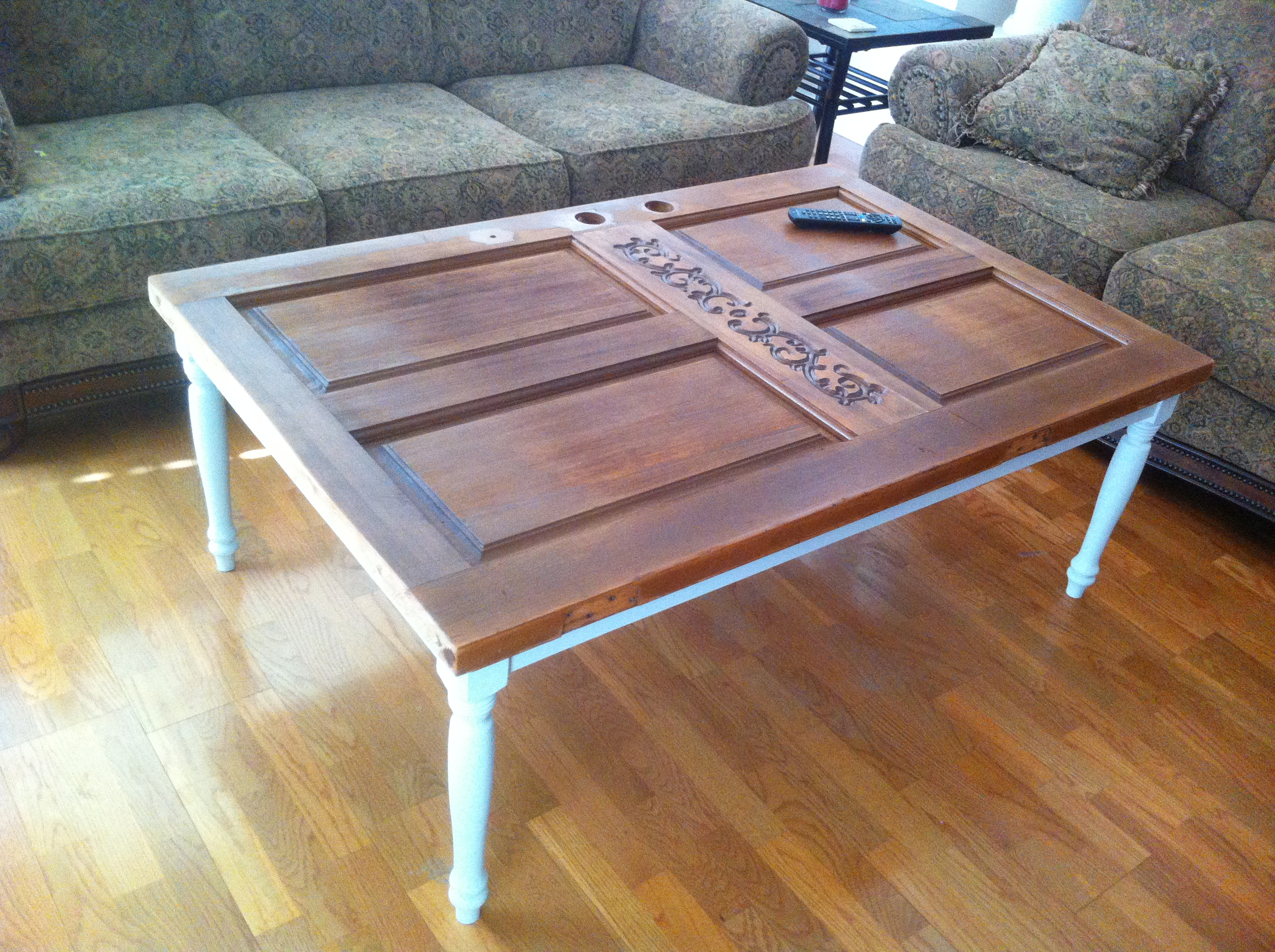 Wooden door coffee table