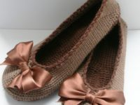 ballerina flats 200x150 Keep Your Feet Warm with These Stylish Free Crochet Slipper Patterns