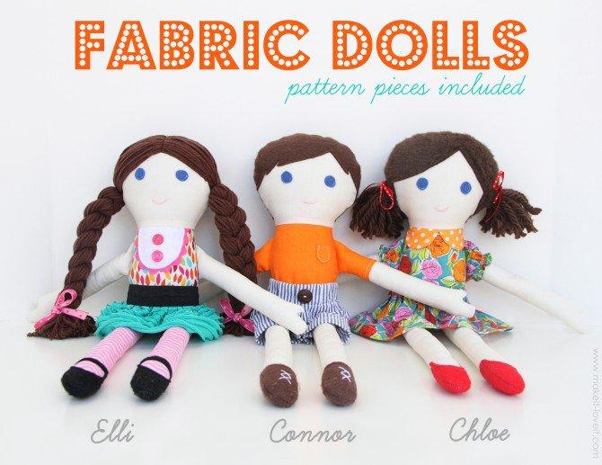 boy or girl fabric dolls
