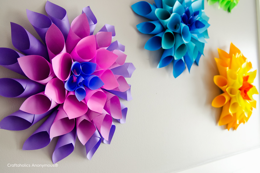 How to make paper flowers in 10 different ways view in gallery diy paper dahlia flowers mightylinksfo