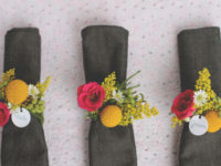 fresh floral 200x150 Keep Your Napkins In Order With These DIY Napkin Rings