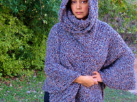 hooded capelet poncho 200x150 Flatter Your Figure with these Free Crochet Poncho Patterns