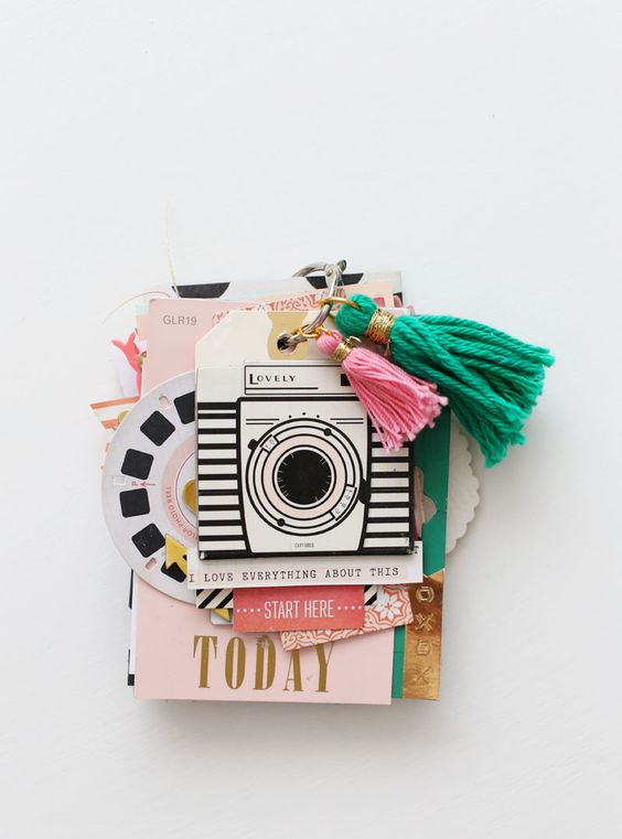 paint chip scrapbook