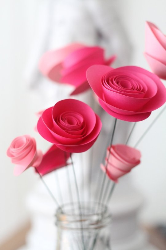 How to make paper flowers in 10 different ways view in gallery paper roses mightylinksfo