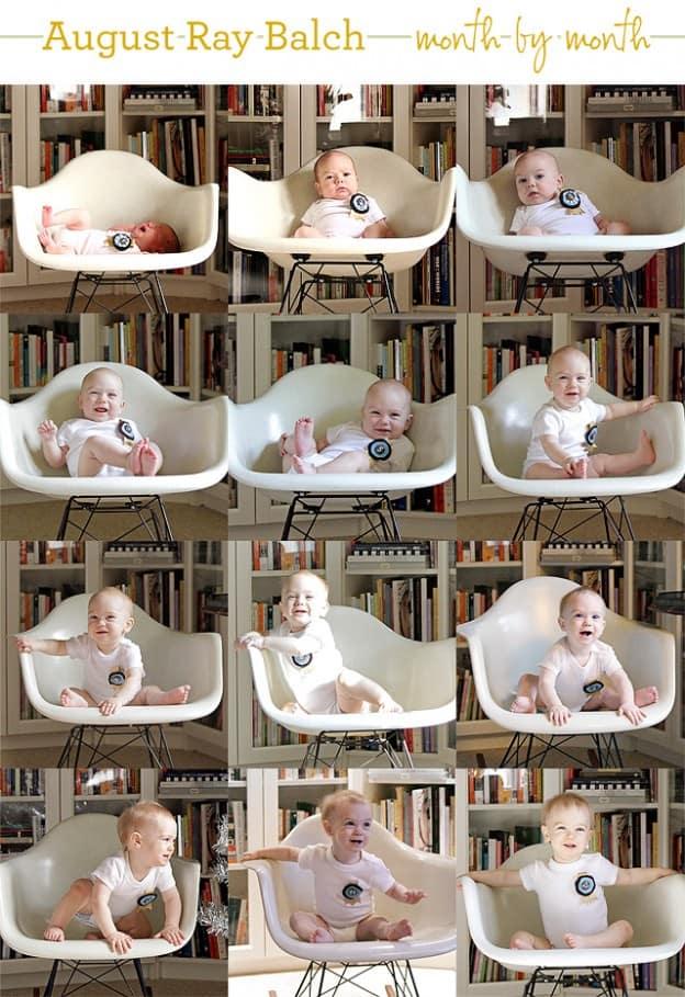 Uma fita e uma cadeira de balanço