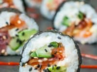 Bacon avocado sushi 200x150 15 Homemade Sushi Recipes For Date Night