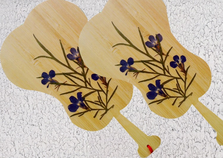 Gorgeous crafts made with pressed flowers view in gallery bamboo and pressed flowers bookmark mightylinksfo