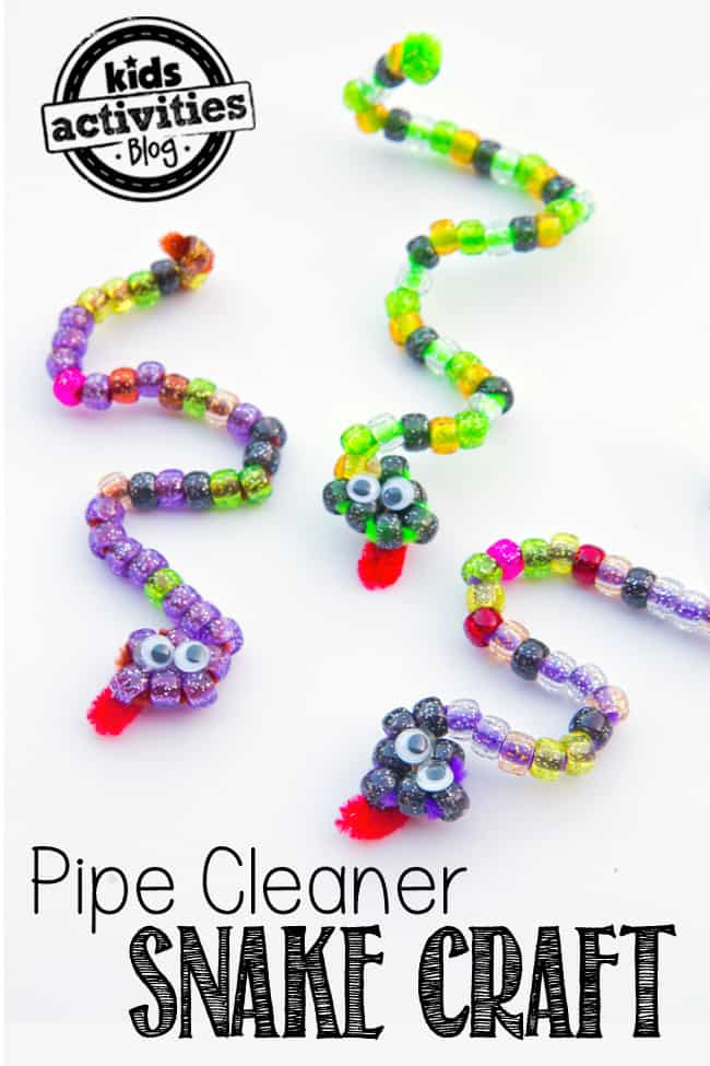 Bead and pipe cleaner snakes
