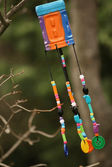diy wind chime ghost craft take a 15 beaded crafts that aren t jewelry 6467